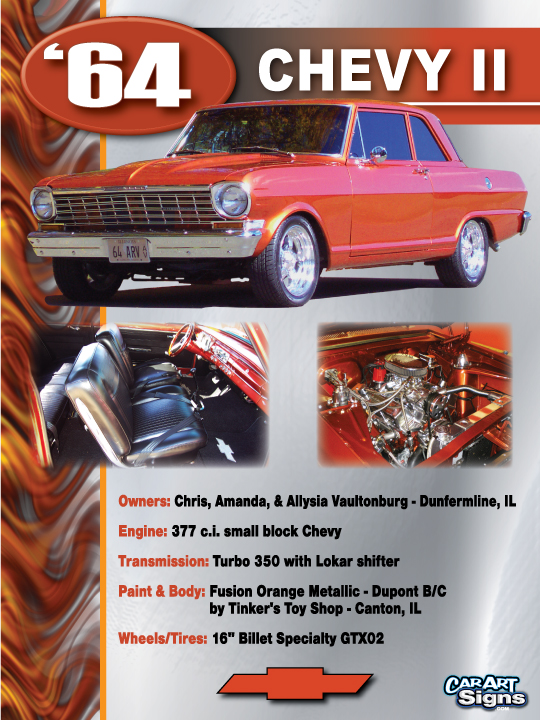 Chevy II Show Board