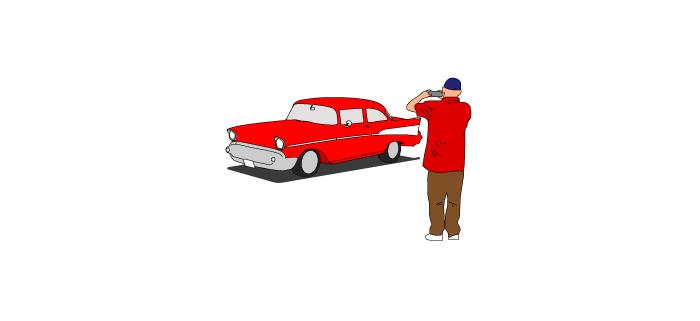 Taking A Vehicle Photo